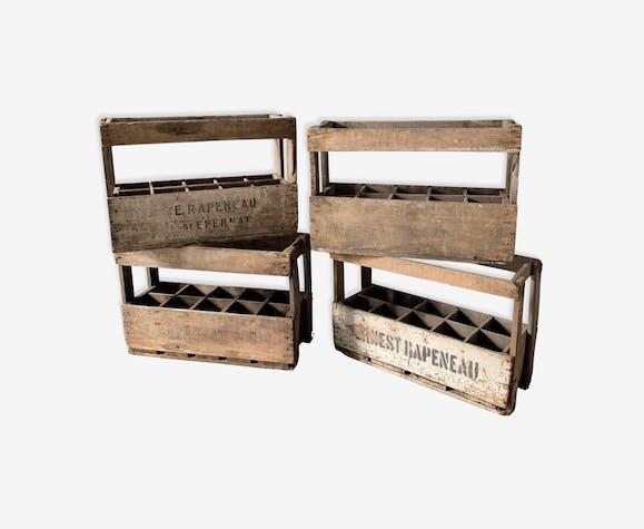 Lot of 4 cases in old bottles