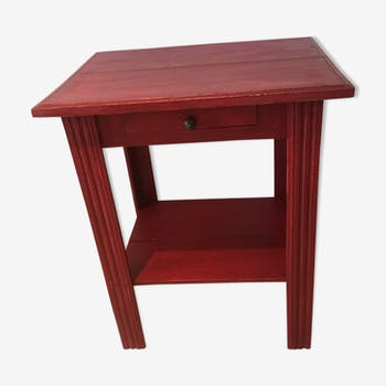 Patinated art deco side table