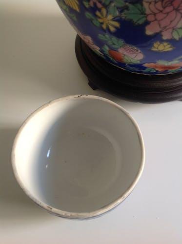 Vase boule chinois