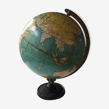 globe terrestre carte g ographique multicolor vintage d 39 occasion. Black Bedroom Furniture Sets. Home Design Ideas