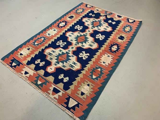 Tapis vintage turc kilim kelim rug shabby 170x113 cm