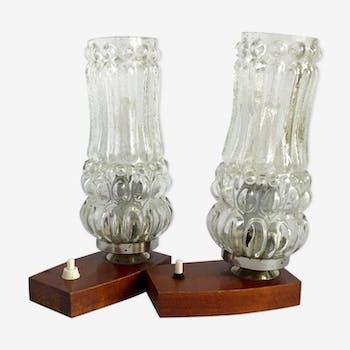 Paire de lampes de chevet années 1960
