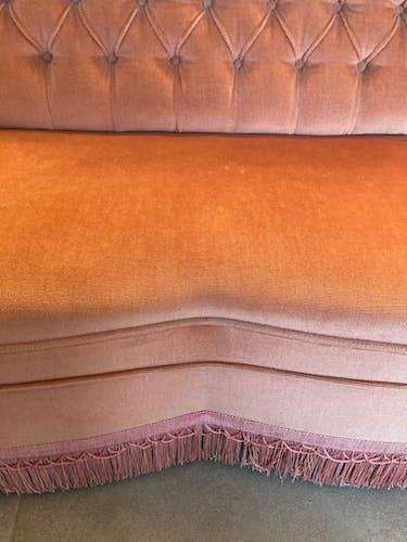Canapé deux places velours
