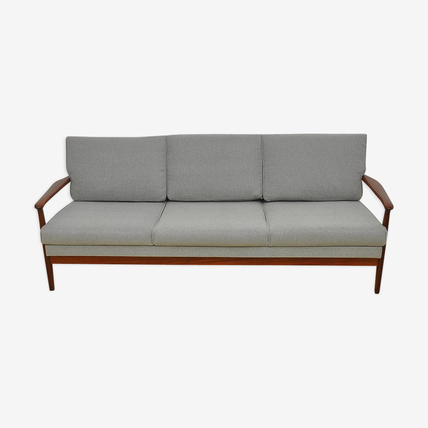 Sofa danois avec assise extensible années 1960