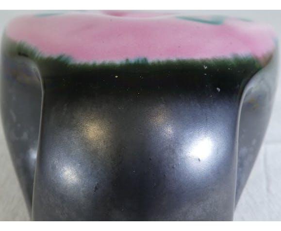 Cendrier en ceramique noir mate