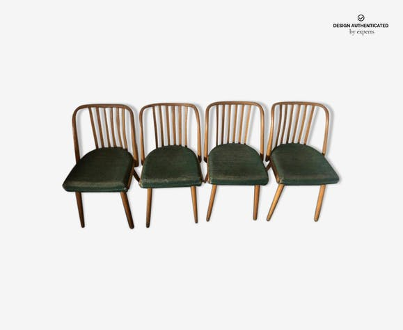 4 chairs by Antonin Suman for Ton 1960