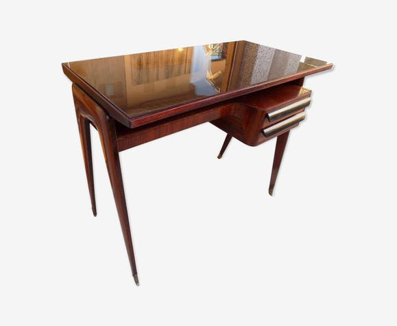 Bureau italien vittorio dassi vers 1960 bois matériau bois