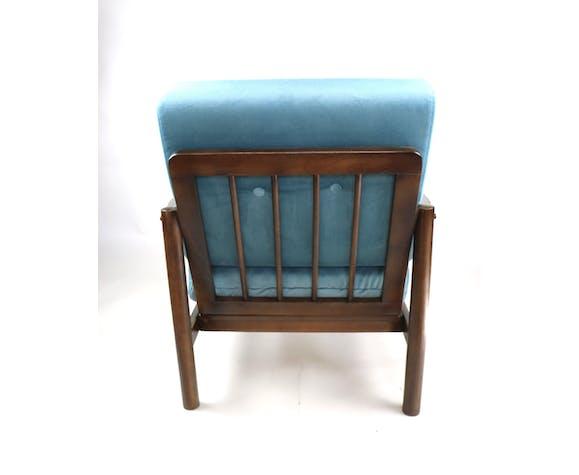 Fauteuil turquoise vintage des années 1970
