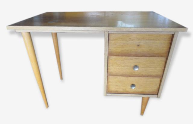 Bureau en bois, années 50