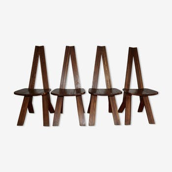 Set de 4 chaises S45 Pierre Chapo