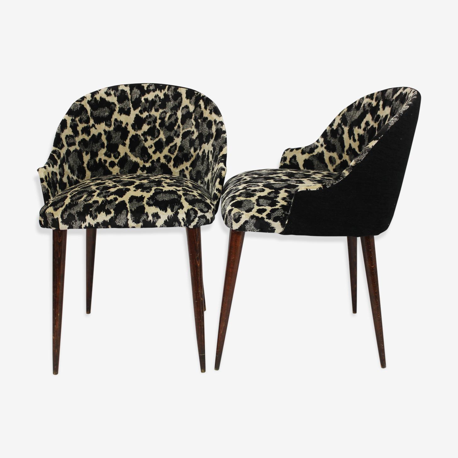 Paire de fauteuils cocktail des années 70