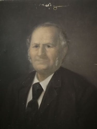 Oil portrait signed and dated 19th