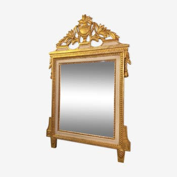 Mirror style empire lacquered wood - 99x63cm
