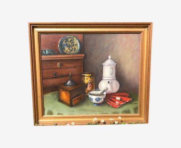 Peinture à l'huile la cuisine