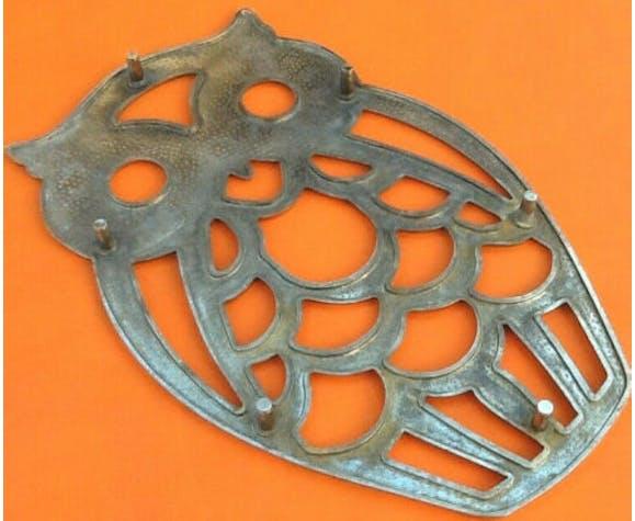 Dessous de plat forme chouette, hibou métal