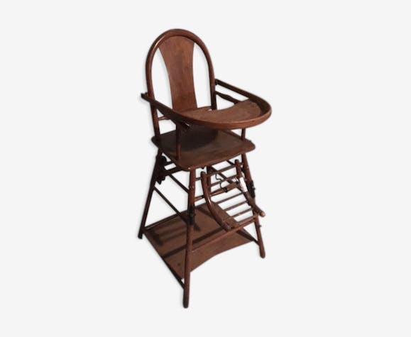 chaise haute b b en bois bois mat riau bois. Black Bedroom Furniture Sets. Home Design Ideas