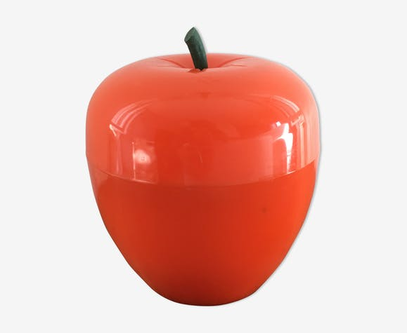 Seau à glaçon pomme vintage orange