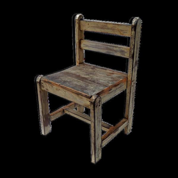 Chaise enfant bois teck
