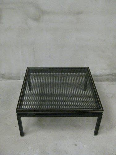 Table basse noire Pierre Vandel Paris
