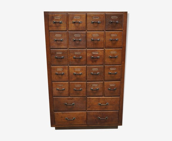 Dutch oak apothecary cabinet, 1930s
