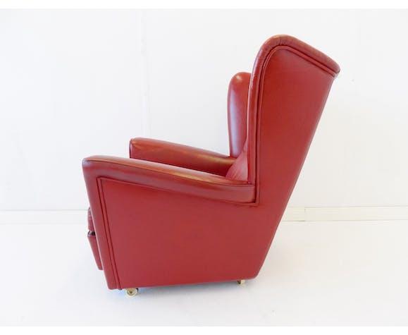Fauteuil en cuir rouge Howard Keith pour HK Furniture