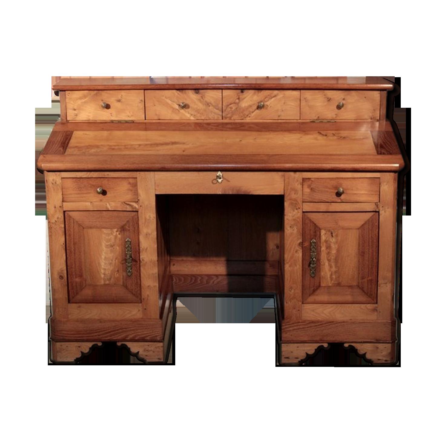 Bureau de pente en frêne et acacia xixe bois matériau bois