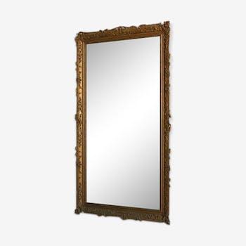 Mirror in time Golden stucco restoration 126x212cm