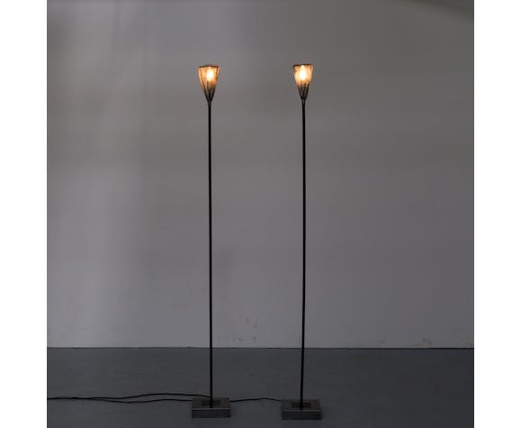 90s early edition metal floorlamps for Baxter set/2