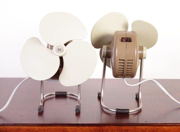 Table fans from Strojsmalt, set of 2