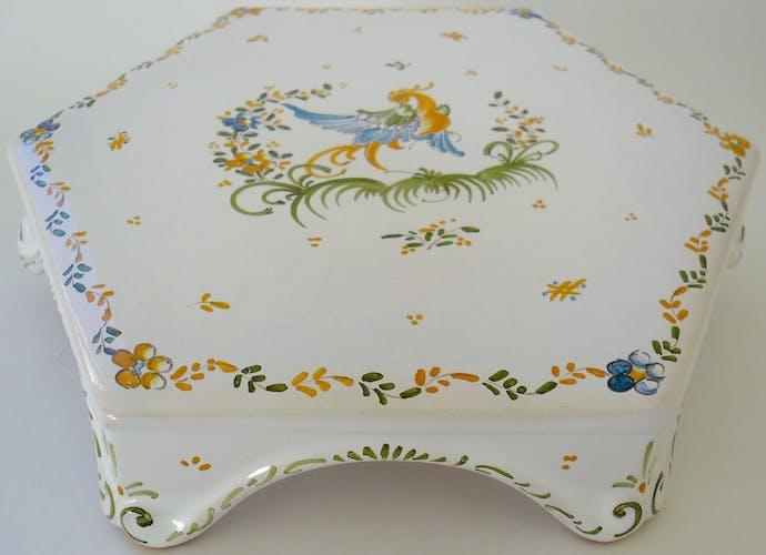 Moutiers-Sainte-Marie earthenware dish underwear by Aulagnet-Baratta workshop
