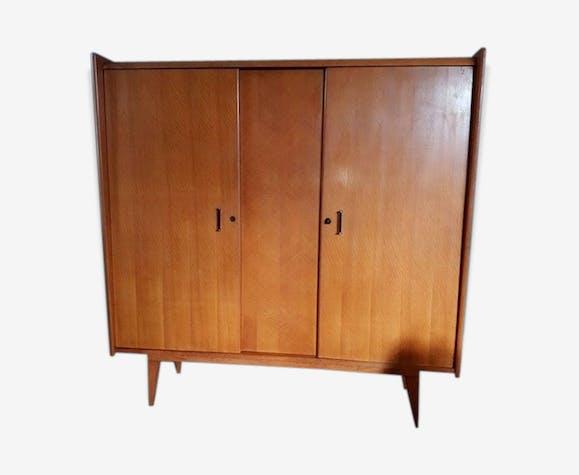 Armoire Dressing Vintage Scandinave 1960 Wood Brown Vintage