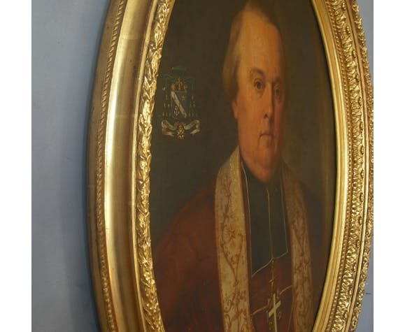 Portrait de F.M. Trégaro, Evêque de Sées - armoiries