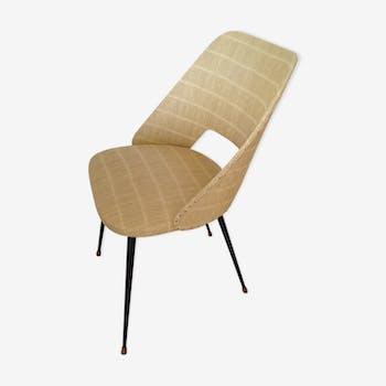 chaise d 39 colier m tal beige vintage 0jx8hla. Black Bedroom Furniture Sets. Home Design Ideas