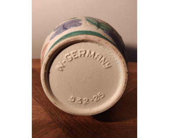 Vase céramique West Germany 532-25 décor coq