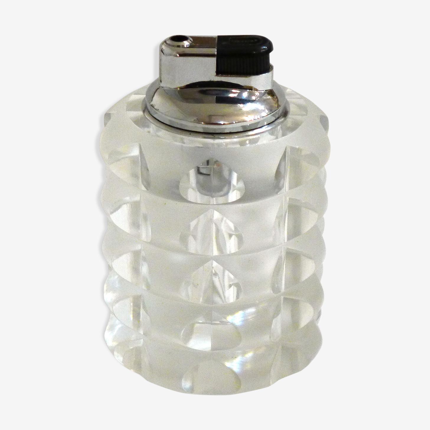Briquet de table en cristal taillé Rosenthal 1950'