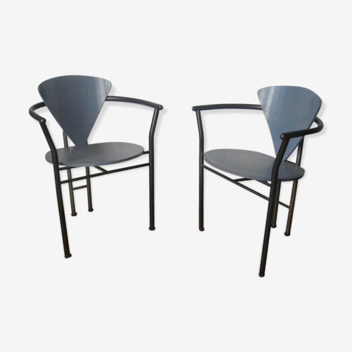 Paire de fauteuils design