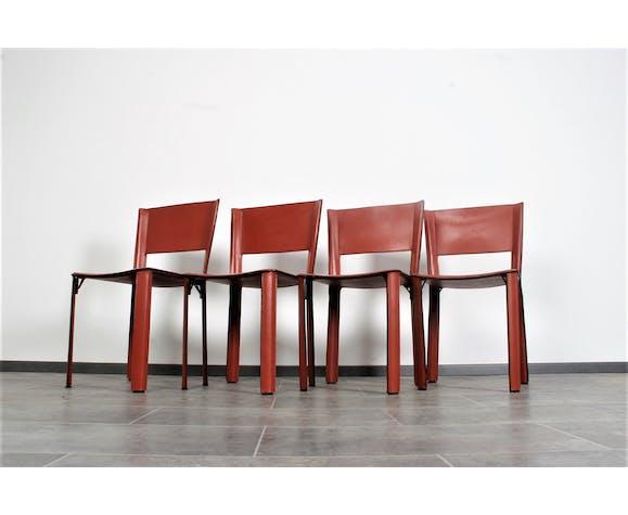 Ensemble de 4 chaises S91 par Giancarlo Vegni pour fasem