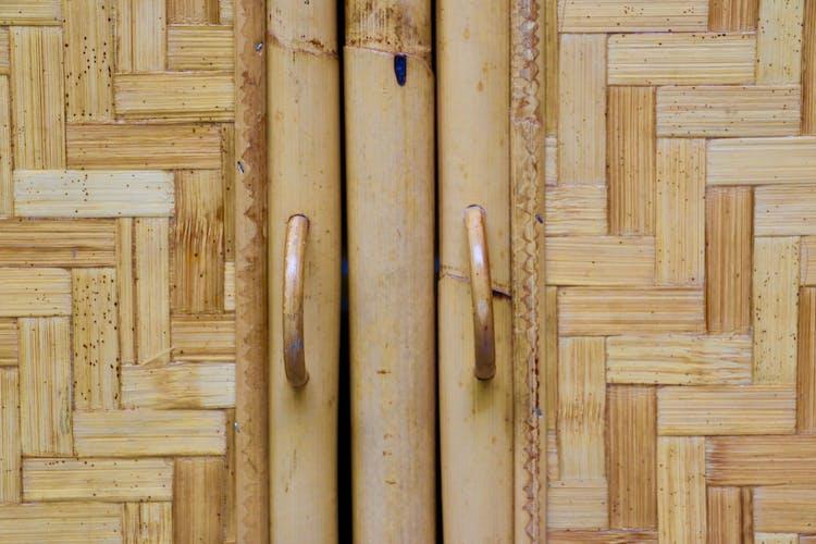 Paire d'enfilades en bambou tressé - Italie 1960