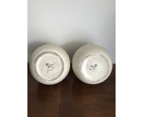 Paire de vases boule orchis