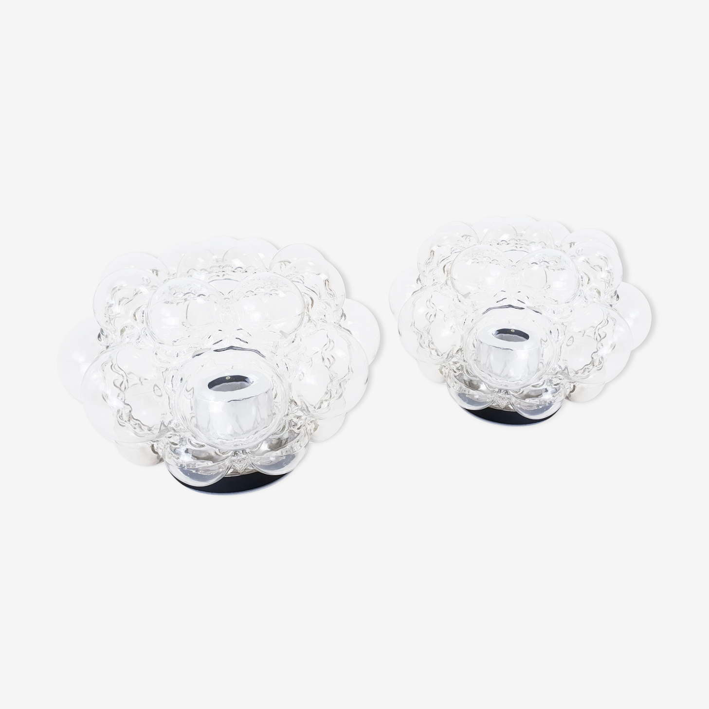 Pair of wall lamps by Helena Tynell for Glashütte Limburg
