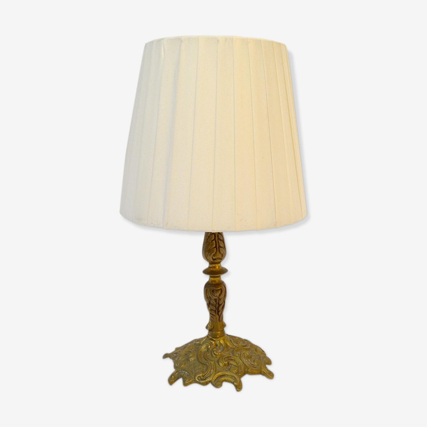 Lampe Ancienne Pieds Laiton Massif Laiton Dore Classique Ckhjl0v