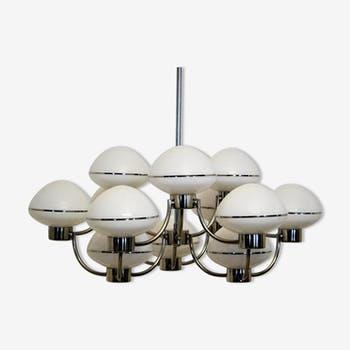 Chandelier with 12 lights vintage by the Maison Sciolari
