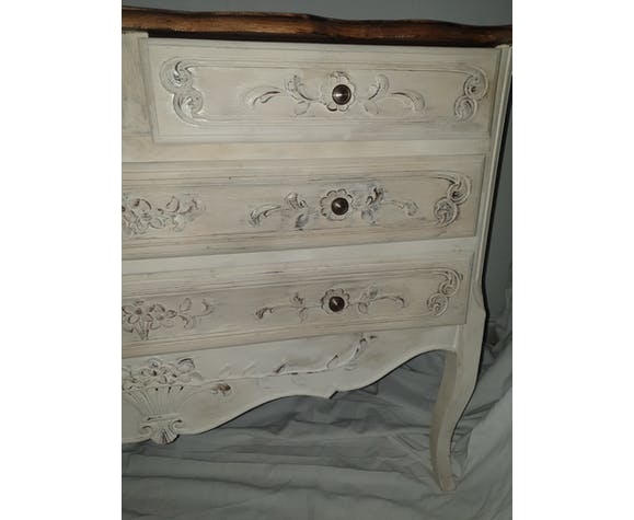 Commode relookée style shabby chic