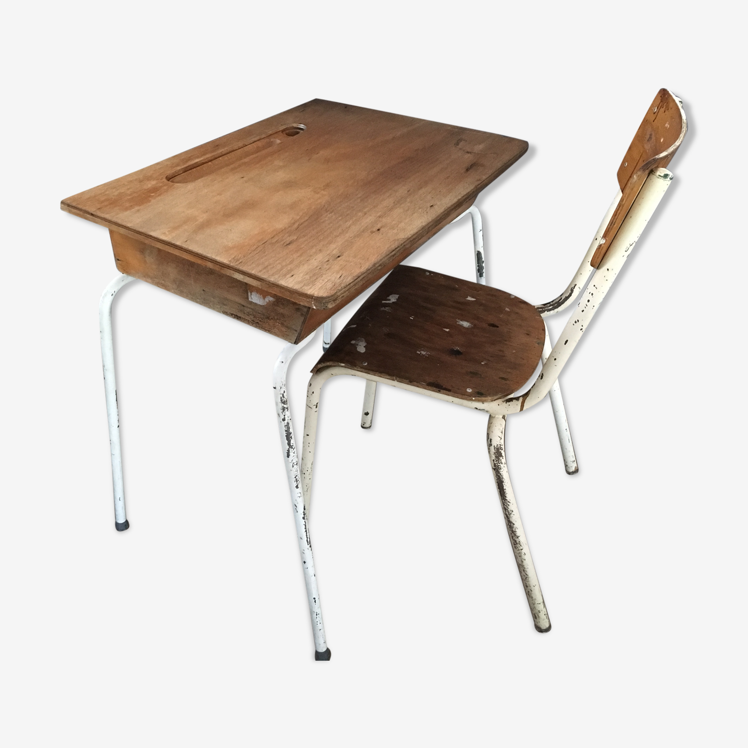 Bureau pliable et sa chaise vintage