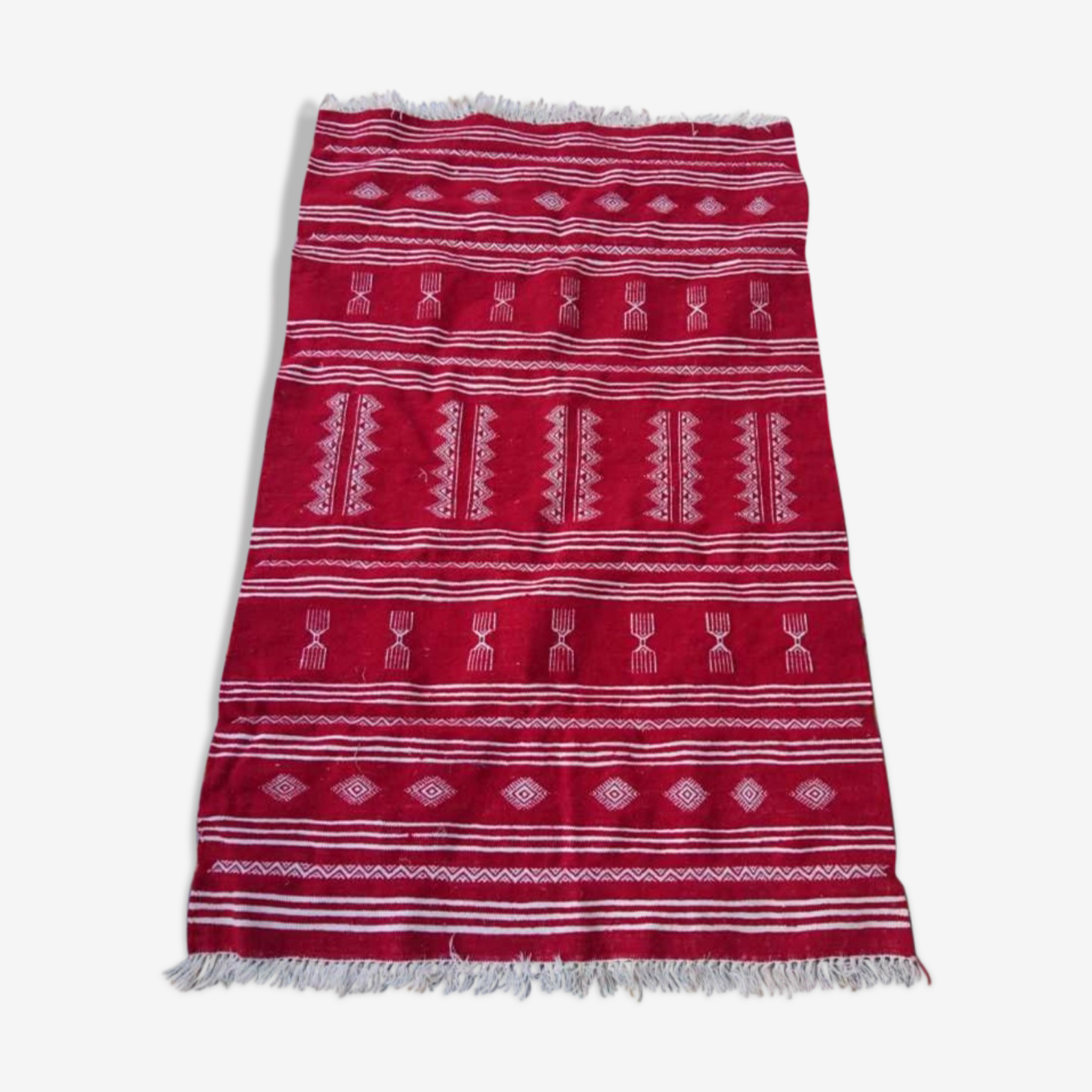 Tapis kilim rouge 100x150cm