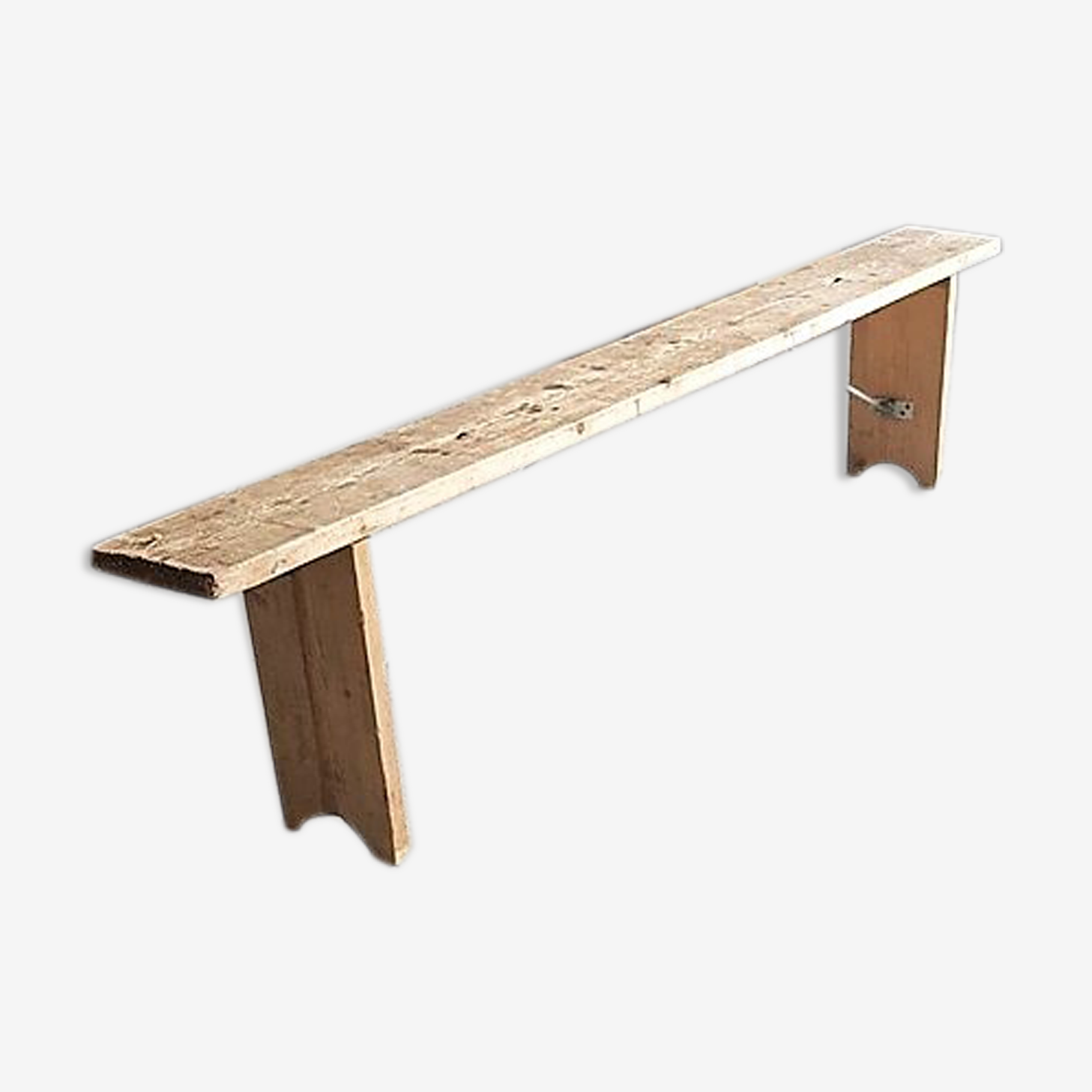 Banc en bois et métal