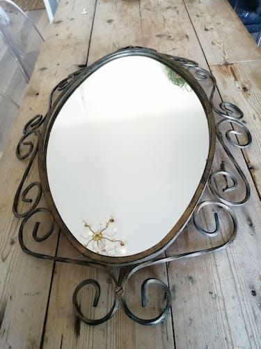 Miroir fer forgé