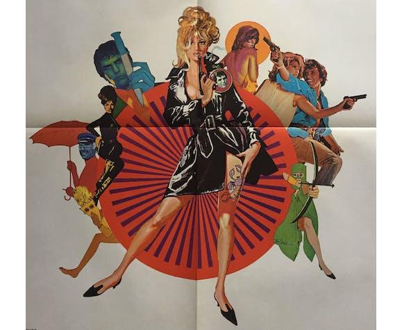 Affiche cinéma Modesty Blaise Monica Vitti 60x80cm
