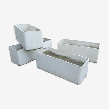 Set of 4 planters in eternit