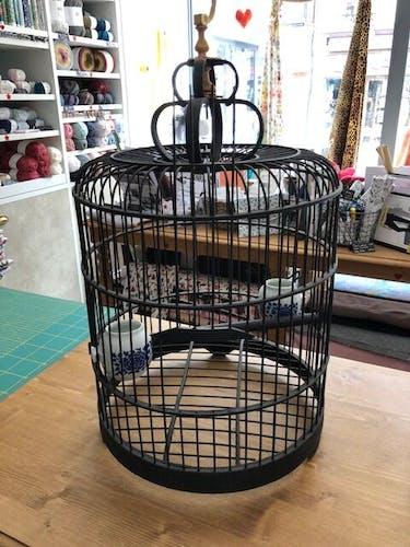 Cage à oiseaux en bambou